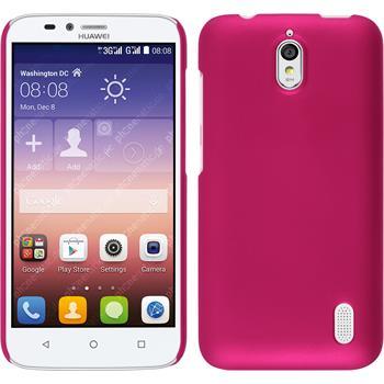 Hardcase für Huawei Y625 gummiert pink