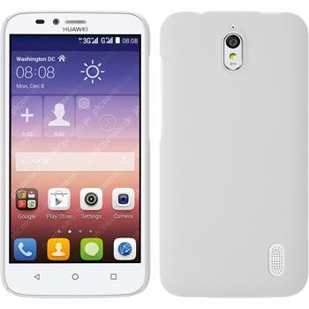 Hardcase für Huawei Y625 gummiert weiß
