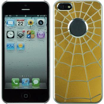 Hardcase for Apple iPhone 5 / 5s Spiderweb yellow