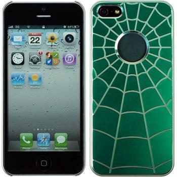 Hardcase for Apple iPhone 5 / 5s Spiderweb green