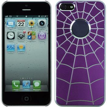 Hardcase for Apple iPhone 5 / 5s Spiderweb purple