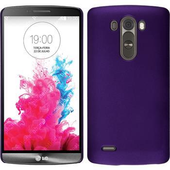 Hardcase für LG G3 gummiert lila