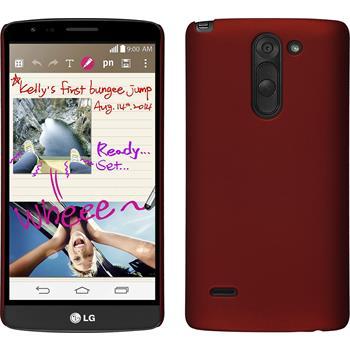 Hardcase für LG G3 Stylus gummiert rot