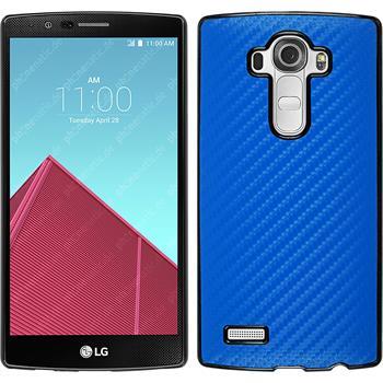 Hardcase for LG G4 carbon optics blue