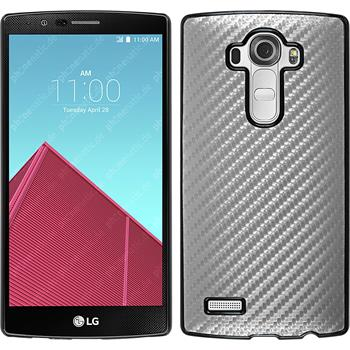 Hardcase for LG G4 carbon optics silver
