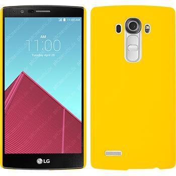 Hardcase for LG G4 rubberized yellow