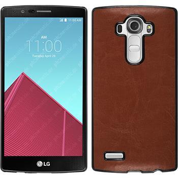 Hardcase for LG G4 leather optics brown