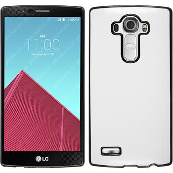 Hardcase for LG G4 leather optics white