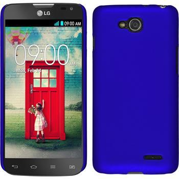 Hardcase für LG L90 Dual gummiert blau