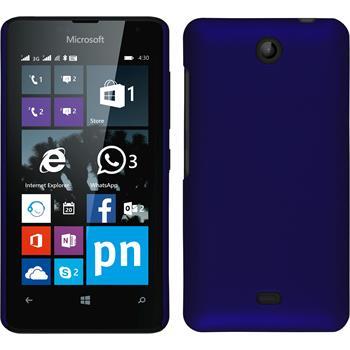 Hardcase Lumia 430 Dual gummiert blau