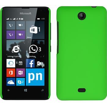 Hardcase für Microsoft Lumia 430 Dual gummiert grün