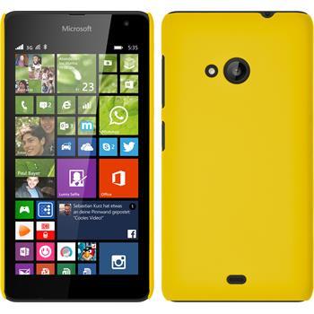 Hardcase Lumia 535 gummiert gelb