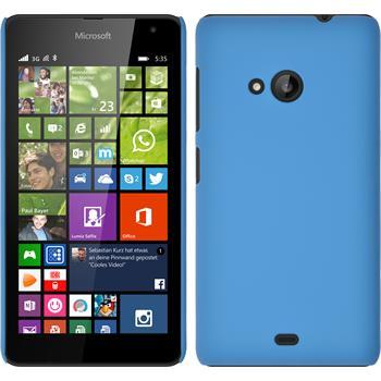 Hardcase Lumia 535 gummiert hellblau