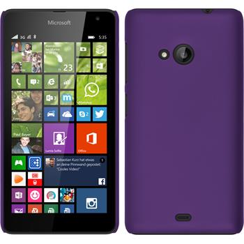 Hardcase Lumia 535 gummiert lila + 2 Schutzfolien