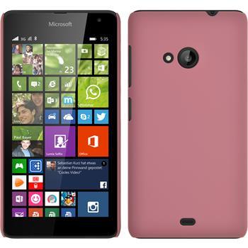 Hardcase Lumia 535 gummiert rosa
