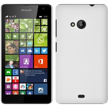 Hardcase Lumia 535 gummiert weiß + 2 Schutzfolien