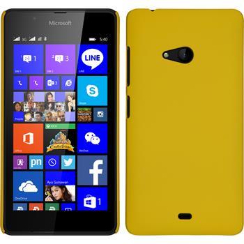 Hardcase Lumia 540 Dual gummiert gelb