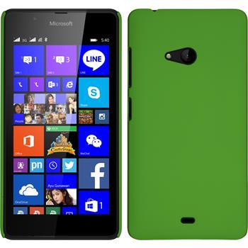Hardcase Lumia 540 Dual gummiert grün