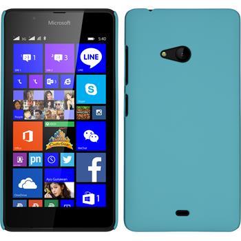 Hardcase Lumia 540 Dual gummiert hellblau