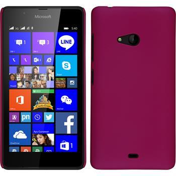 Hardcase Lumia 540 Dual gummiert pink + 2 Schutzfolien