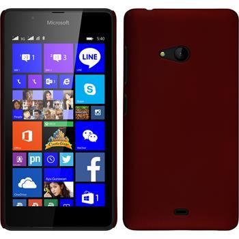 Hardcase Lumia 540 Dual gummiert rot