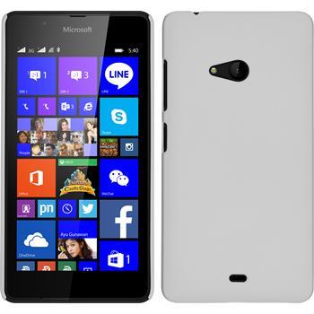 Hardcase Lumia 540 Dual gummiert weiß + 2 Schutzfolien
