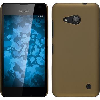 Hardcase Lumia 550 gummiert gold + 2 Schutzfolien