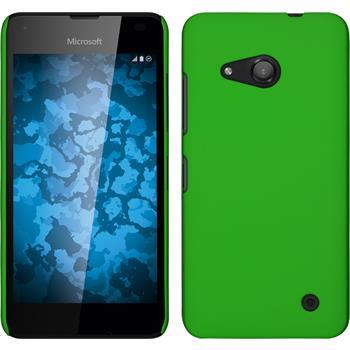 Hardcase für Microsoft Lumia 550 gummiert grün