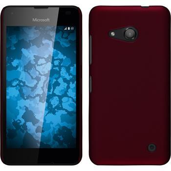 Hardcase für Microsoft Lumia 550 gummiert rot