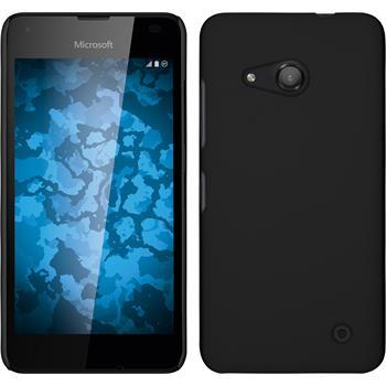 Hardcase für Microsoft Lumia 550 gummiert schwarz