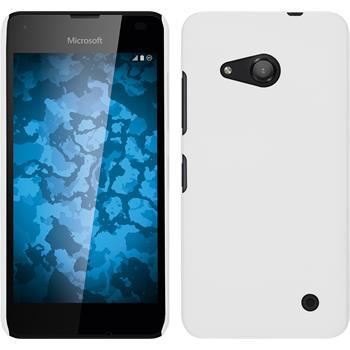 Hardcase Lumia 550 gummiert weiß + 2 Schutzfolien