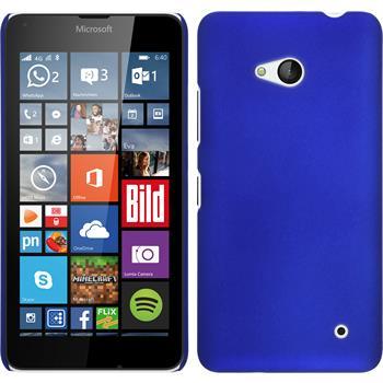 Hardcase Lumia 640 gummiert blau