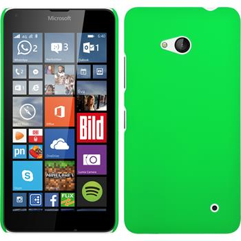 Hardcase for Microsoft Lumia 640 rubberized green