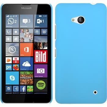 Hardcase Lumia 640 gummiert hellblau