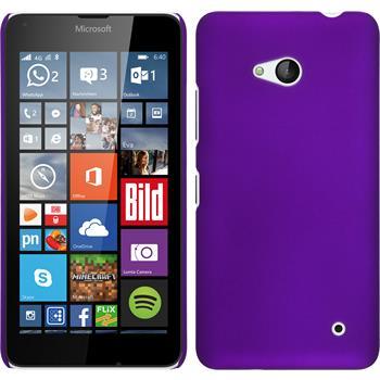 Hardcase Lumia 640 gummiert lila + 2 Schutzfolien