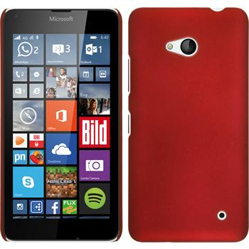 Hardcase for Microsoft Lumia 640 rubberized red
