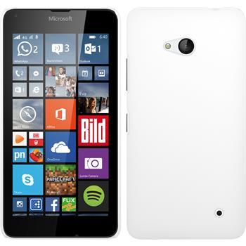 Hardcase Lumia 640 gummiert weiß