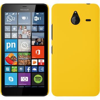 Hardcase für Microsoft Lumia 640 XL gummiert gelb