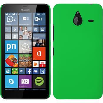 Hardcase Lumia 640 XL gummiert grün + 2 Schutzfolien
