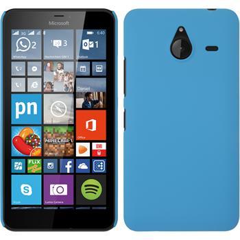 Hardcase Lumia 640 XL gummiert hellblau