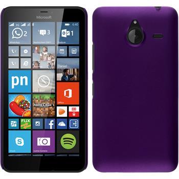 Hardcase Lumia 640 XL gummiert lila + 2 Schutzfolien