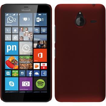 Hardcase for Microsoft Lumia 640 XL rubberized red