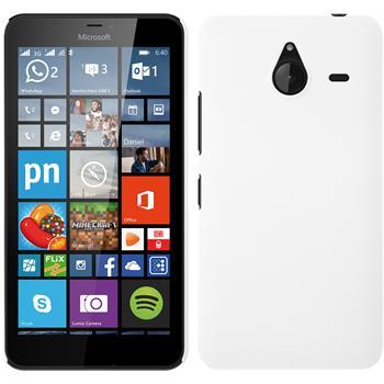 Hardcase Lumia 640 XL gummiert weiß + 2 Schutzfolien