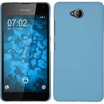 Hardcase Lumia 650 gummiert hellblau