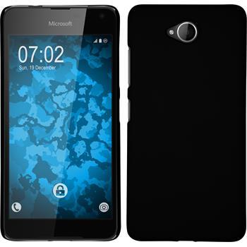 Hardcase Lumia 650 gummiert schwarz