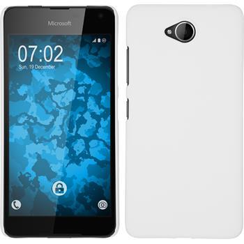 Hardcase für Microsoft Lumia 650 gummiert weiß
