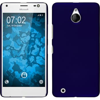 Hardcase Lumia 850 gummiert blau