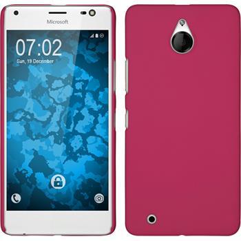 Hardcase für Microsoft Lumia 850 gummiert pink
