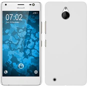 Hardcase für Microsoft Lumia 850 gummiert weiß