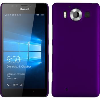 Hardcase Lumia 950 gummiert lila